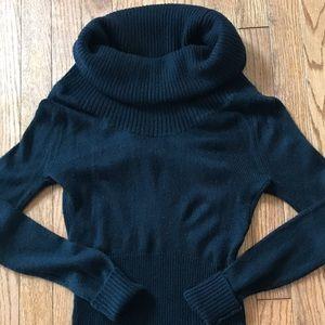 Bebe women's black turtleneck sweater size M